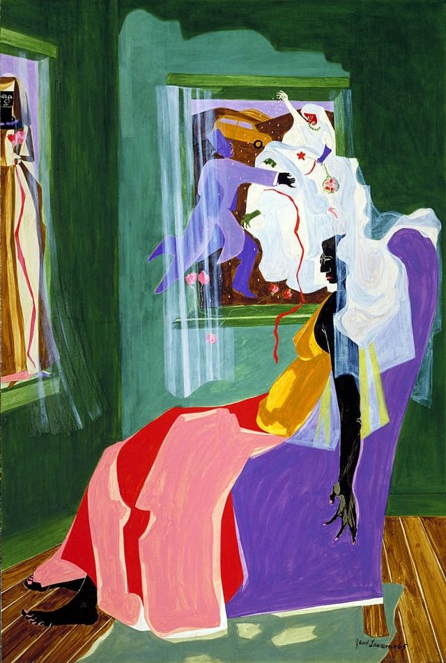 African-American painter, Jacob Lawrence (1917-2000). - #african #american #art #jacob #lawrence #life #painting #paintings