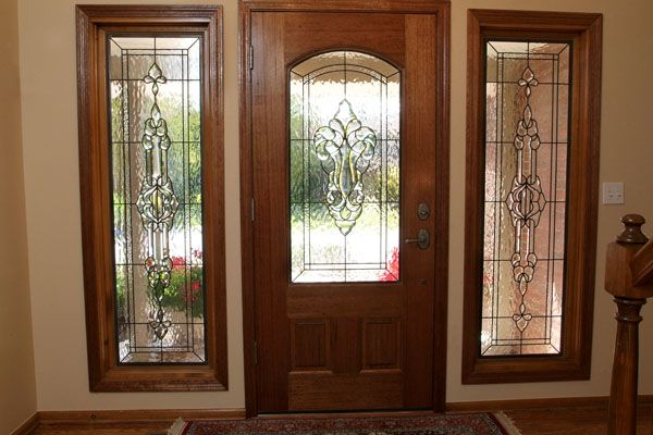 Front Entrance Doors With Glass Design Stained Glass Entryway