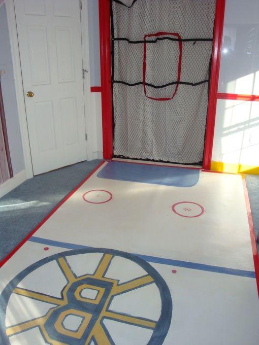 Boys Bedroom Ideas Hockey I Like The Rug Great For Knee