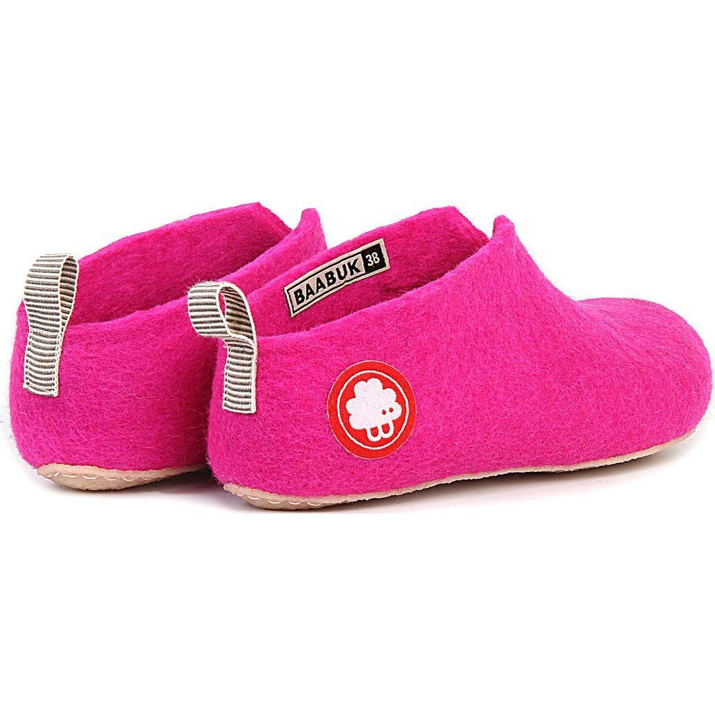 d372d11b4 If you're looking for a fun, colorful, extra-comfy way to keep your feet  warm in the winter, BAABUK has the footwear for you. These Gus Wool Slippers  in ...
