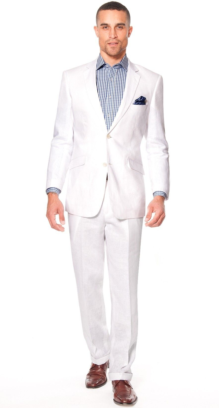 Monaco 2014 Modern Fit Linen Suit for Men - White $398.00 -- Tulum ...
