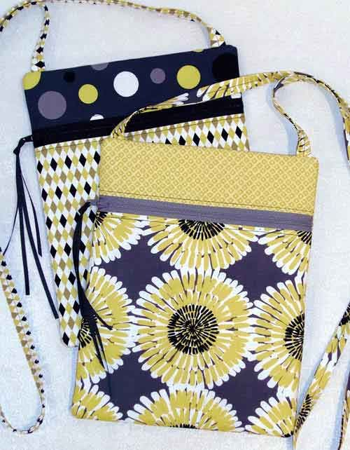 Runaround Bag Pattern by Joan Hawley of Lazy Girl Designs at KayeWood.com