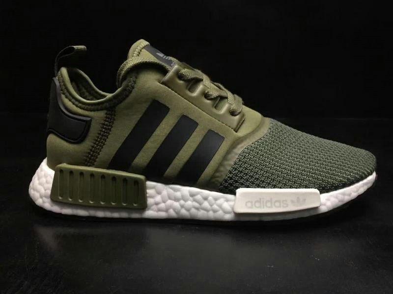 20ca28758dd68 Discount Men Adidas Originals NMD R1 Military Green White BB6788 2018  Spring Summer Sale