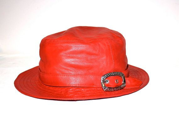 e500a890433 ... promo code for vintage gianni versace hat butter soft red leather by  statedstyle 89e3d 33345