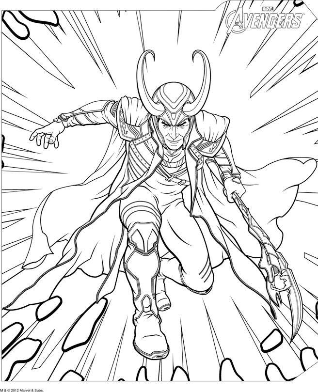 Coloriage Loki Avengers Fun Avengers Coloring Pages Avengers