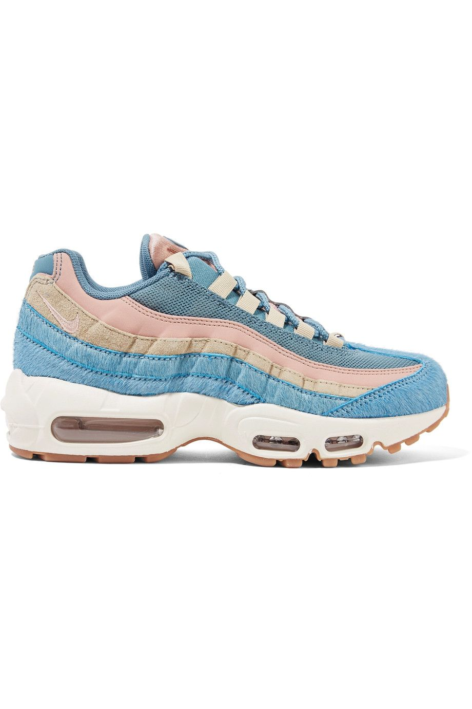 save off 7ca4a 6534c Nike   Air Max 95 calf hair, suede and mesh sneakers   NET-A-PORTER.COM