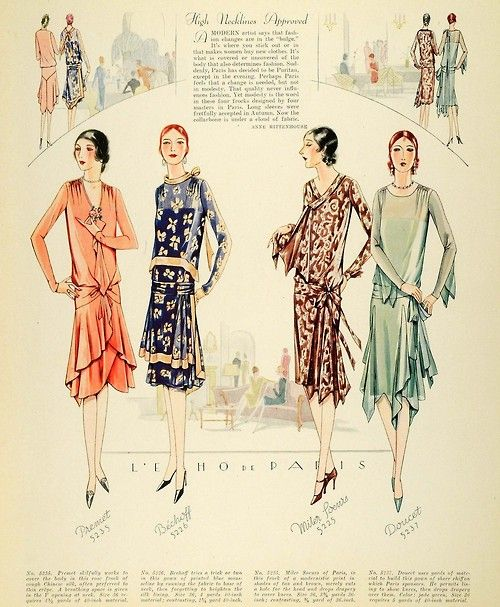McCall's 1928 from My Vintage Vogue -- the blue dress, please.