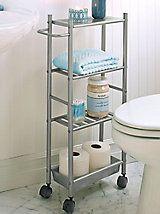 Slim Metal Cart  Small Rolling Cart  Bathroom Storage Mesmerizing Small Bathroom Cart Decorating Inspiration