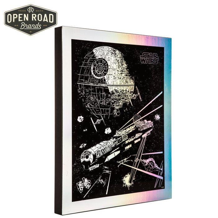 Star Wars Ships Prismatic Wood Wall Decor⎢open Road Brands