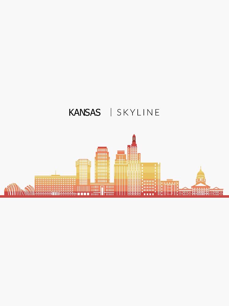 Kansas Skyline Travel Sticker By Duxdesign Redbubble Kansas Travel Inspired Design City Of Missouri Sigh In 2020 City Skyline Art Kansas City Skyline City Skyline