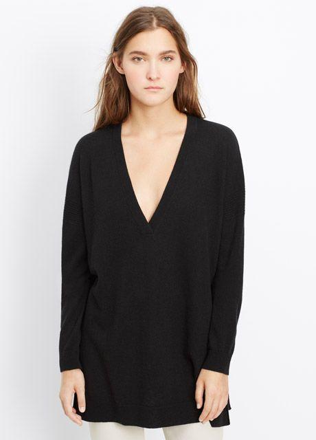 a26f104136e53 Comes in sand color. Cashmere Side Slit V-Neck Sweater | K Style | V ...