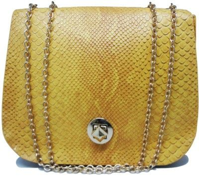 Tuelip Women Casual Yellow PU Sling Bag Yellow-04 - Price in India ...