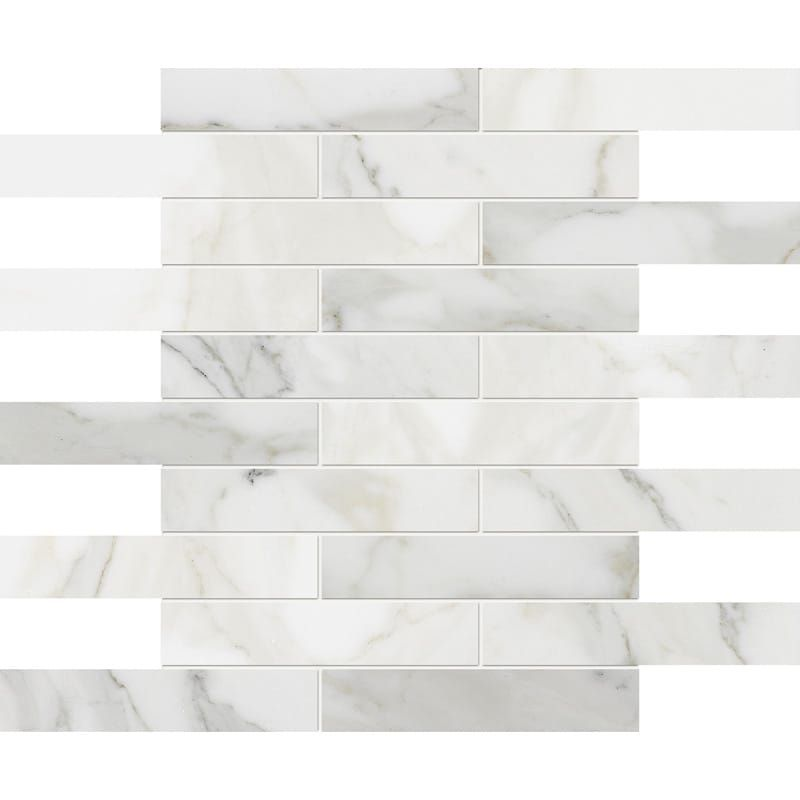 Calacatta Gold Polished 1 1 4 X 6 Marble Mosaics 12x12 Country Floors Of America Llc Marble Mosaic Marble Mosaic Tiles Calacatta Gold