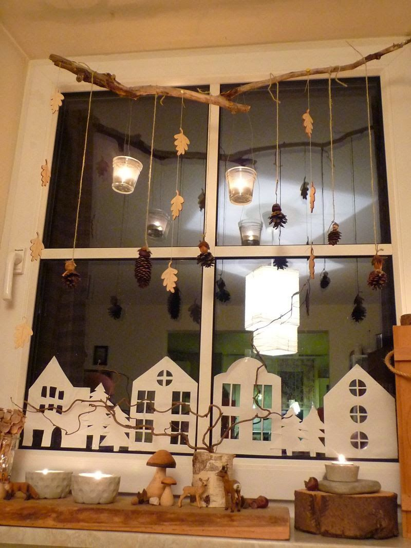 Window decor for christmas  meine grüne wiese gebasteltes u  pinteresu