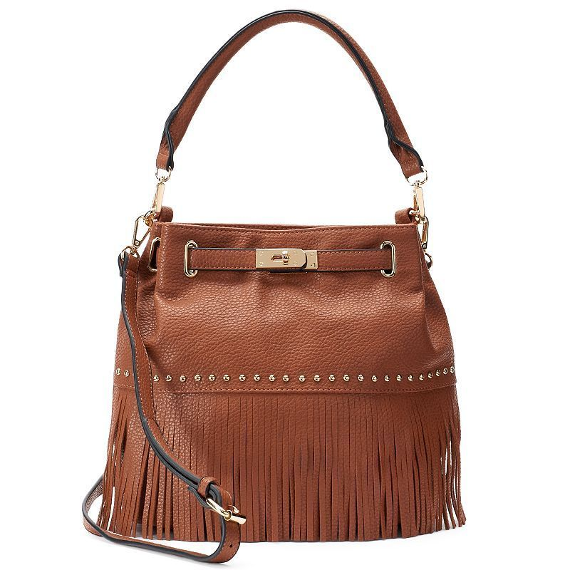 Mellow World Lorraine Fringe Bucket Bag, Women's, Brown