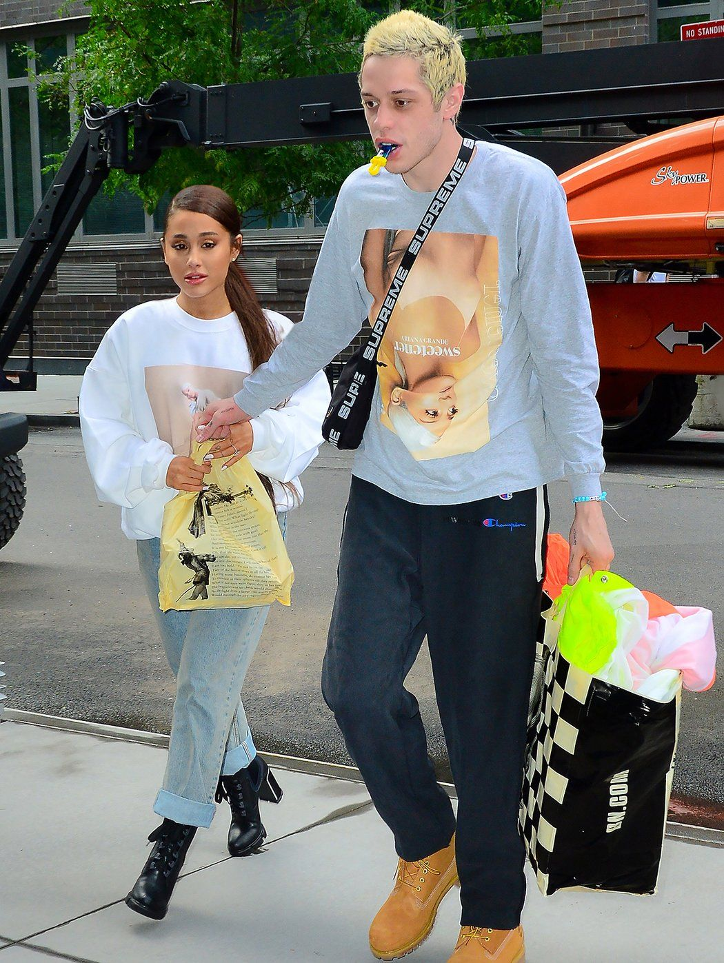 Sweet Shirts! Ariana Grande and Pete Davidson Step Out in