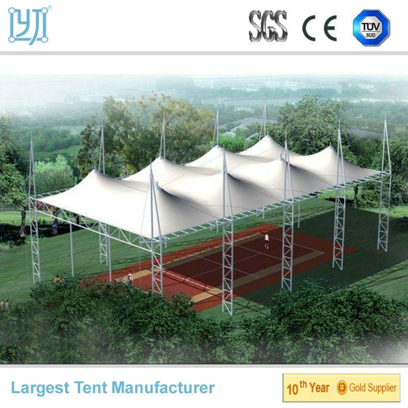 Cubierta de estructura pvdf para pista de tenis - Material de construccion ...