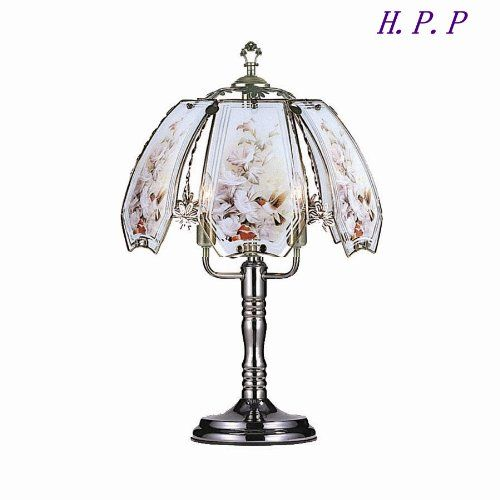 Table Lamps Hpp 235h New Glass Hummingbird Touch Table Lamp W Dark Chrome Finish Base 3 This Is An Amazon Associate Touch Lamp Touch Table Lamps Unique Lamps