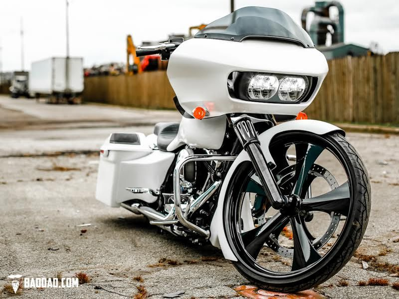 Baggers Bad Dad S 2015 Road Glide With 26 Wheel Bad Dad Custom Bagger Parts For Your Bagger Custom Baggers Custom Bagger Parts Road Glide