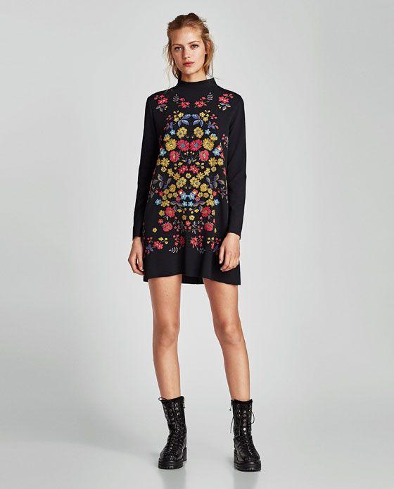 Mujer Style Vestido Vestidos EngomadoFashionamp; Estampado Zara j4AR5L