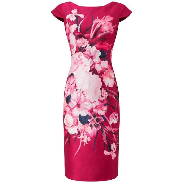 Jacques Vert Josephine Print Shantung Dress ($215) ❤ liked on ...