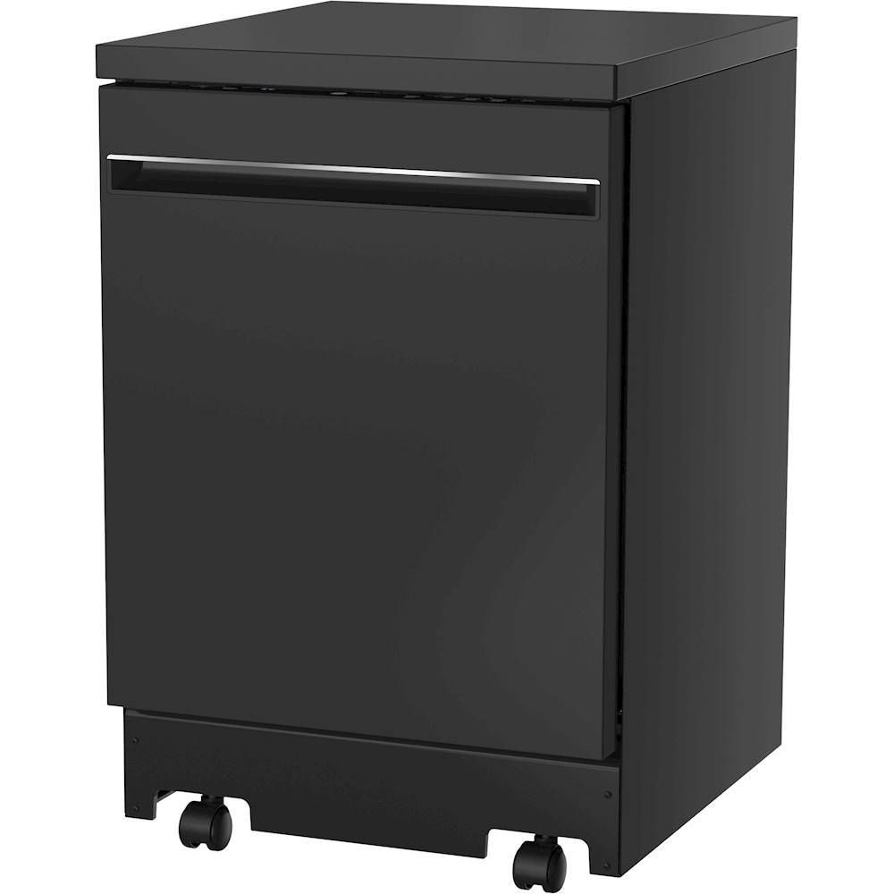 "GE 24"""" Portable Dishwasher Black Portable"