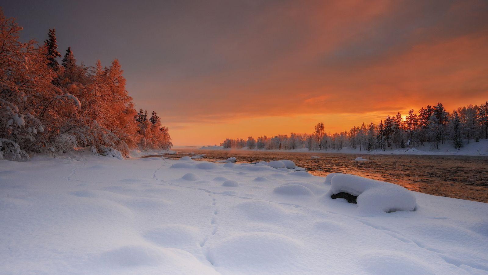 пейзаж север зима фото команда