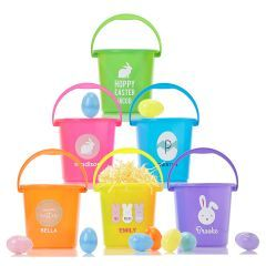 Personalized easter buckets easter basket personalized gift personalized easter buckets easter basket personalized gift personalized easter basket monogrammed easter basket monogrammed gifts gifts for girls negle Image collections