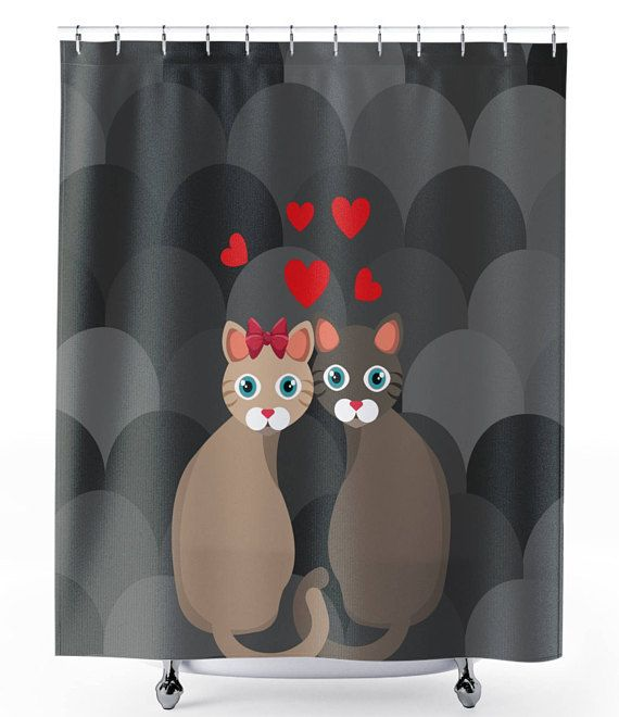 With Our Cat Shower Curtain Expression Of Personality Has No Borders Made To Order Premium