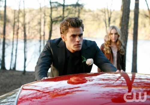 """Miss Mystic Falls"" - Paul Wesley as Stefan, Spencer Locke as Amber in THE VAMPIRE DIARIES on The CW.  Photo: Quantrell Colbert/The CW  ©2010 The CW Network, LLC. All Rights Reserved."