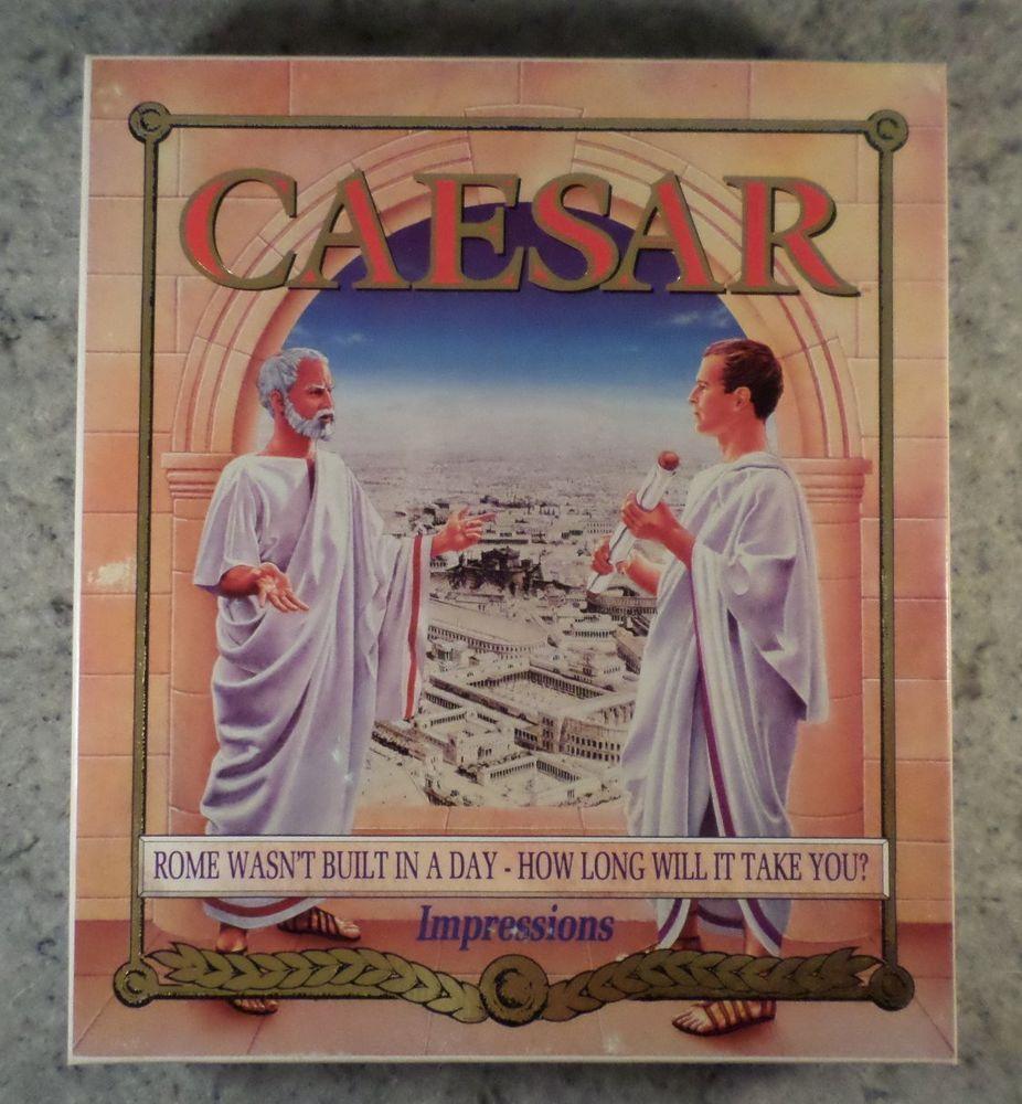 "CAESAR IBM PC 3.5"" disks Original BIG BOX Impressions"