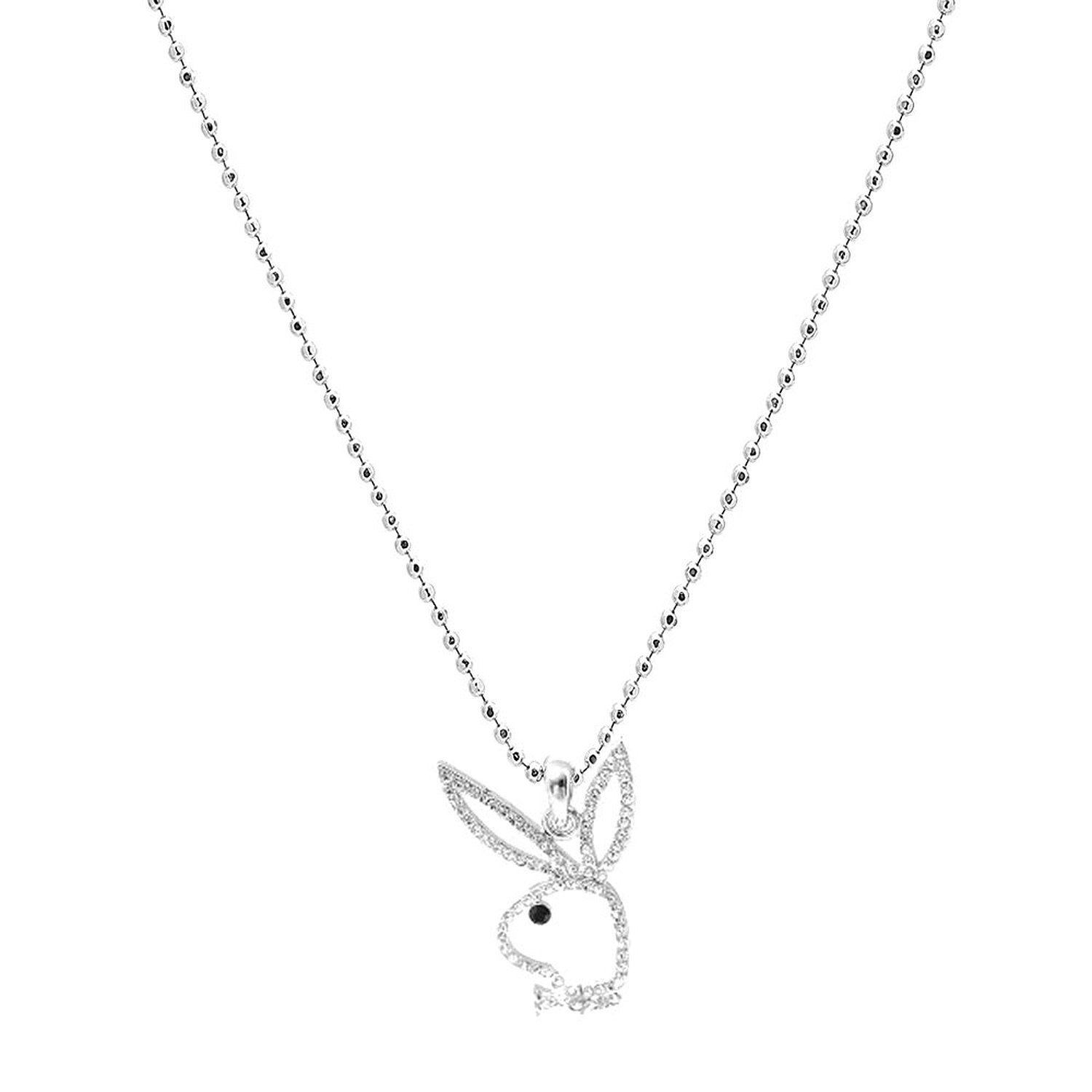 Playboy Platinum Plated Bunny Initial Pendant Letter Y BRAND NEW