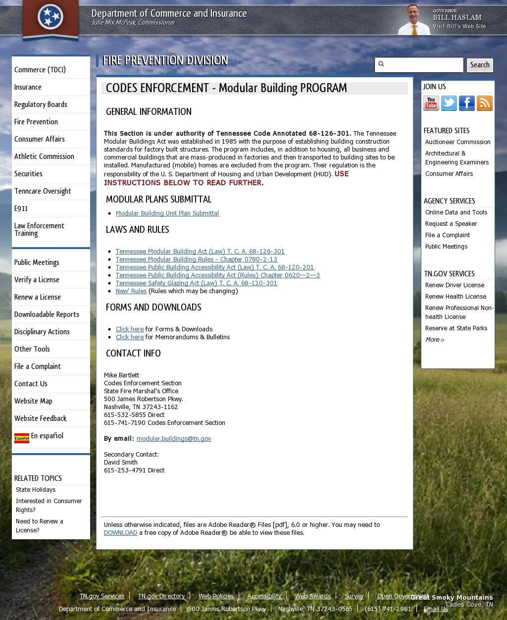 Modular Building Program Fire prevention, Modular