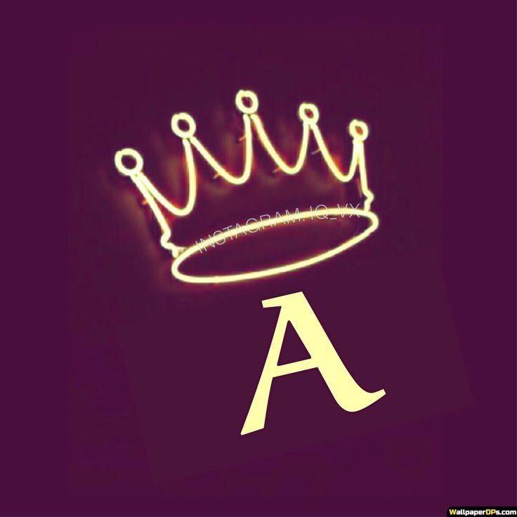 A Awesome Neon Yellow Crown Alphabet Dp Pics Pretty Wallpaper Iphone Alphabet Wallpaper Bad Girl Wallpaper