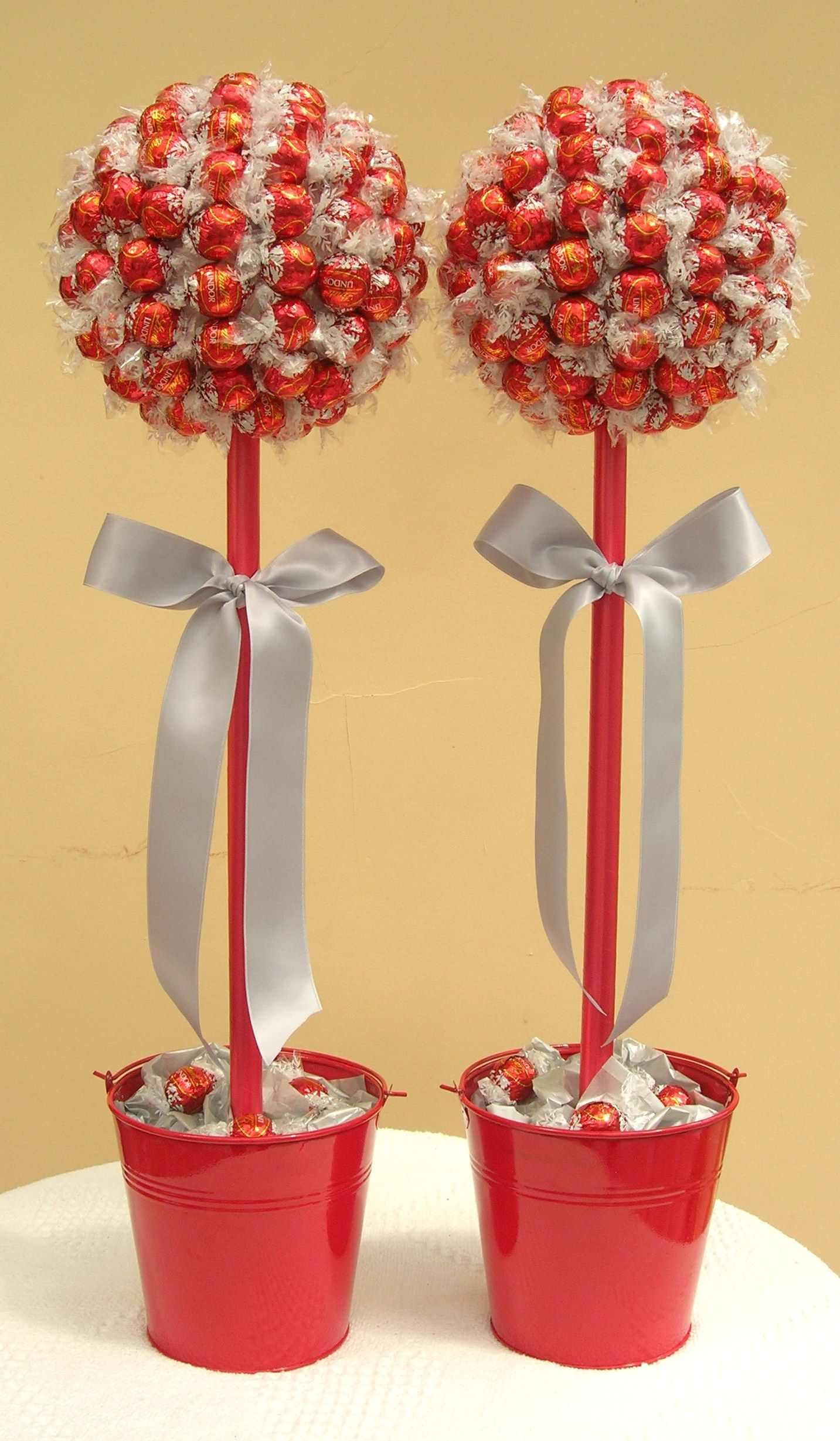 Wedding Lindor and silver sweet trees Candy topiary