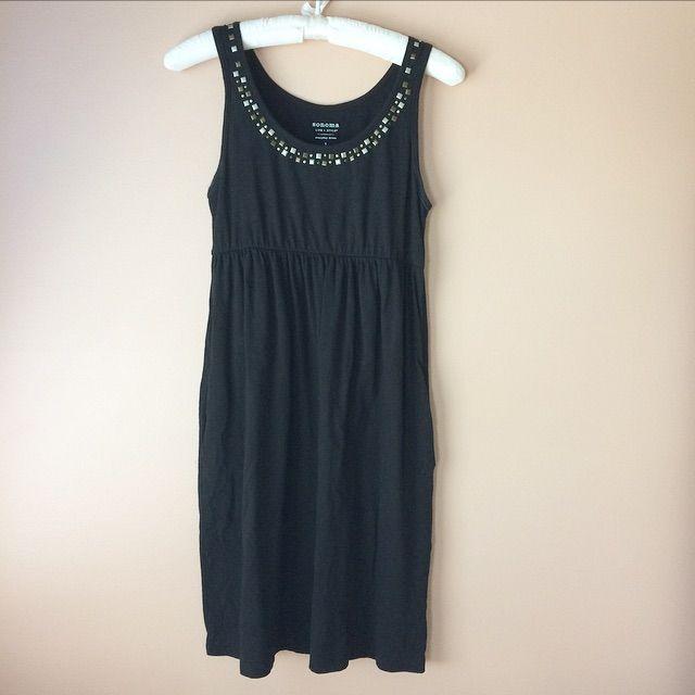 Sonoma Black Beaded Dress