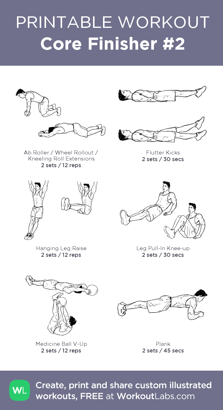 core finisher 2 1 minute after each circuit 30 seconds after each exercise my visual workout created at workoutlabs com click through to customize and  [ 736 x 1354 Pixel ]