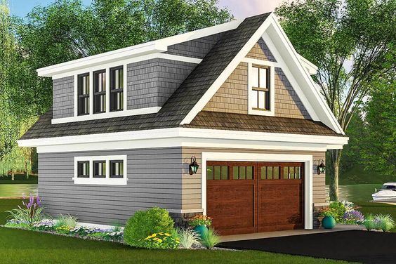 Plan 14653RK: Carriage House Plan with Man Cave Potential
