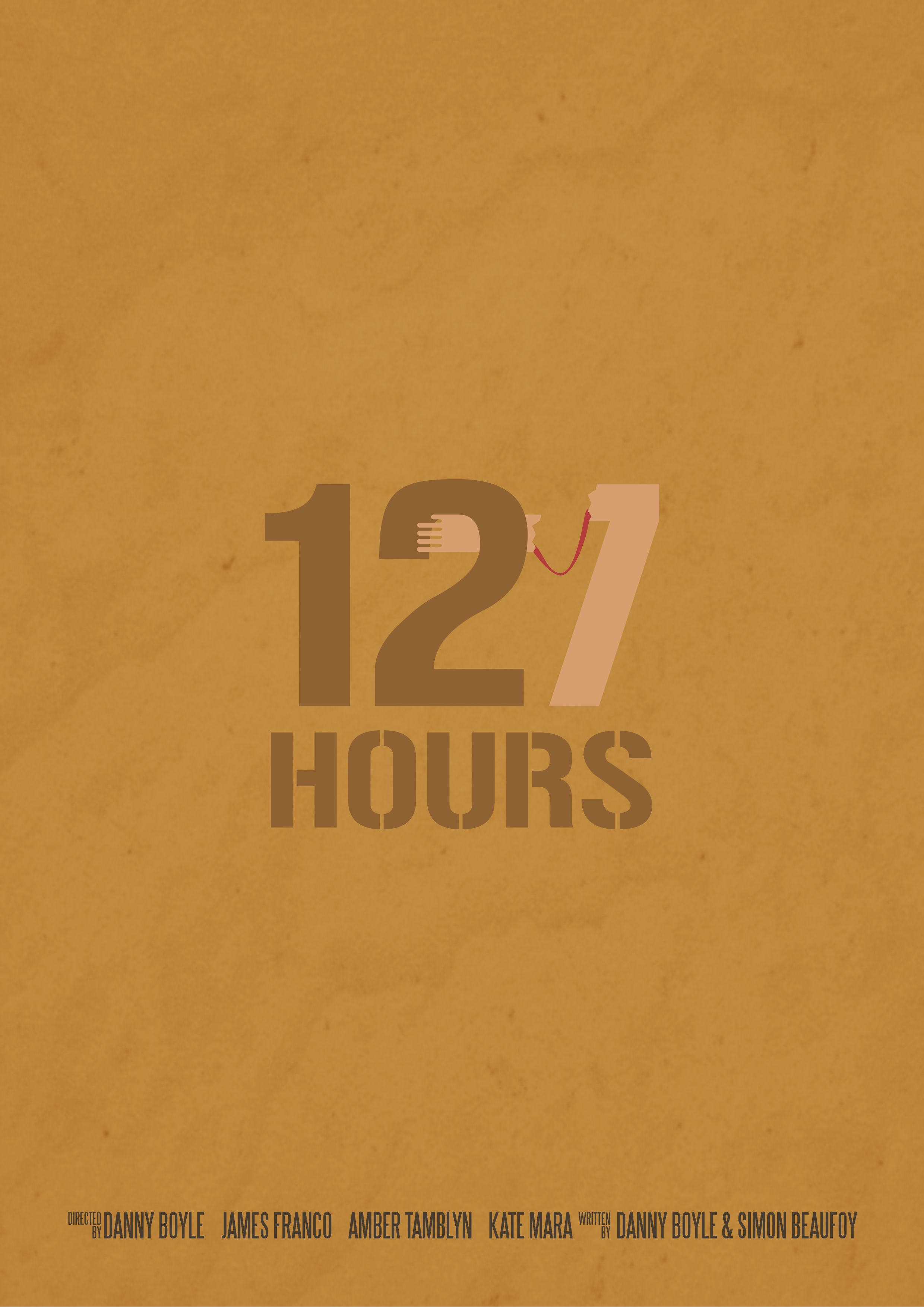 127 Hours. Minimal poster by Jose Sancho.
