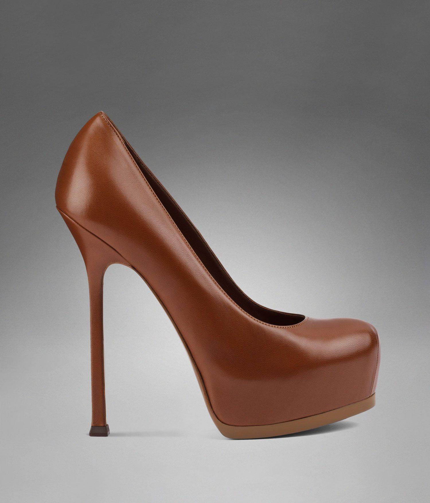 e2c2e0eeb3b YSL Trib Too High Heel Pump in Cognac Leather - Pumps – Shoes – Women – Yves  Saint Laurent – www.ysl.com