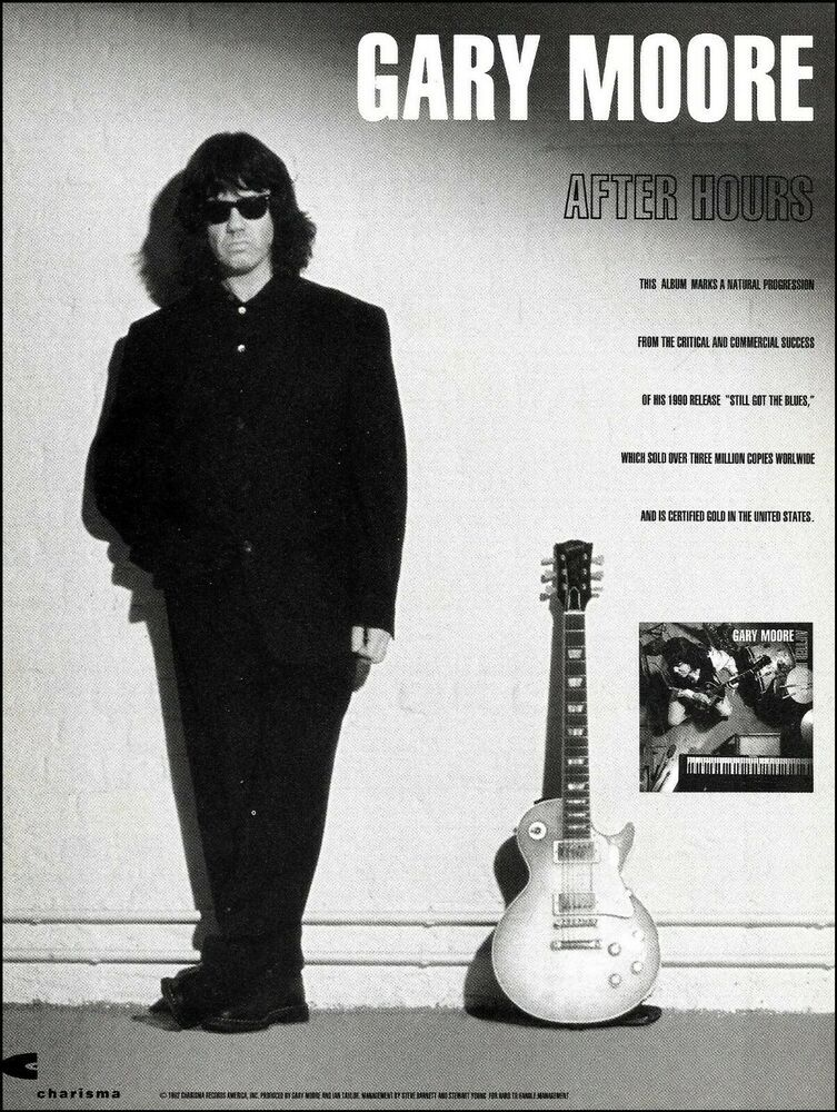Gary Moore 1992 After Hours Ad 8 X 11 Charisma Records Advertisement Print In 2020 Gary After Hours Japan Music