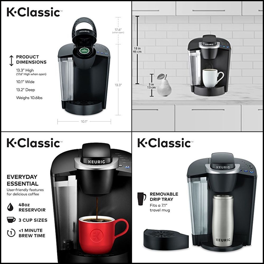 K-Cup Pod Single Serve Keurig K55 / K-Classic Coffee Maker Programmable  Black Filter Coffee Machines Home & Garden cs-sp.co.jp
