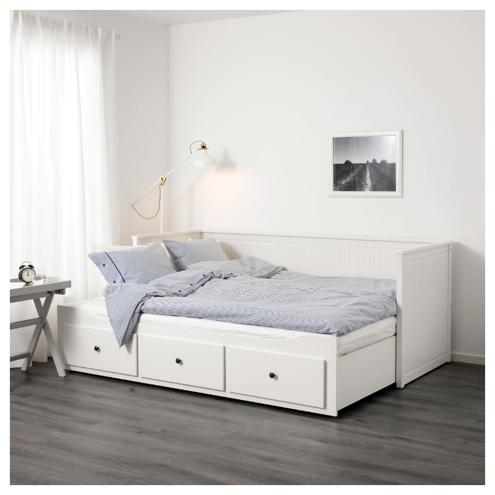 Hemnes Daybed Frame With 3 Drawers White Twin Ikea Hemnes Day Bed Ikea Bed Day Bed Frame
