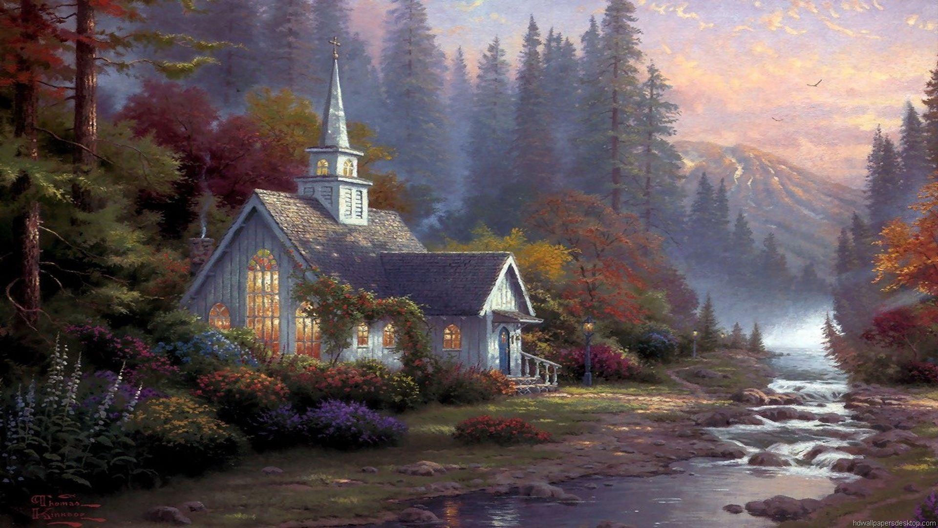 Thomas Kinkade Winter Paintings