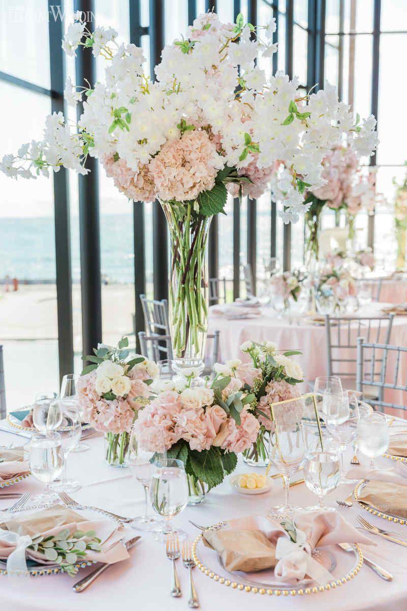 Blush Wedding Flowers Pink Table Settings Elegantwedding Ca