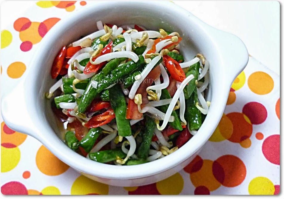Indonesian Tumis Tauge Dan Kacang Panjang Groente Salades