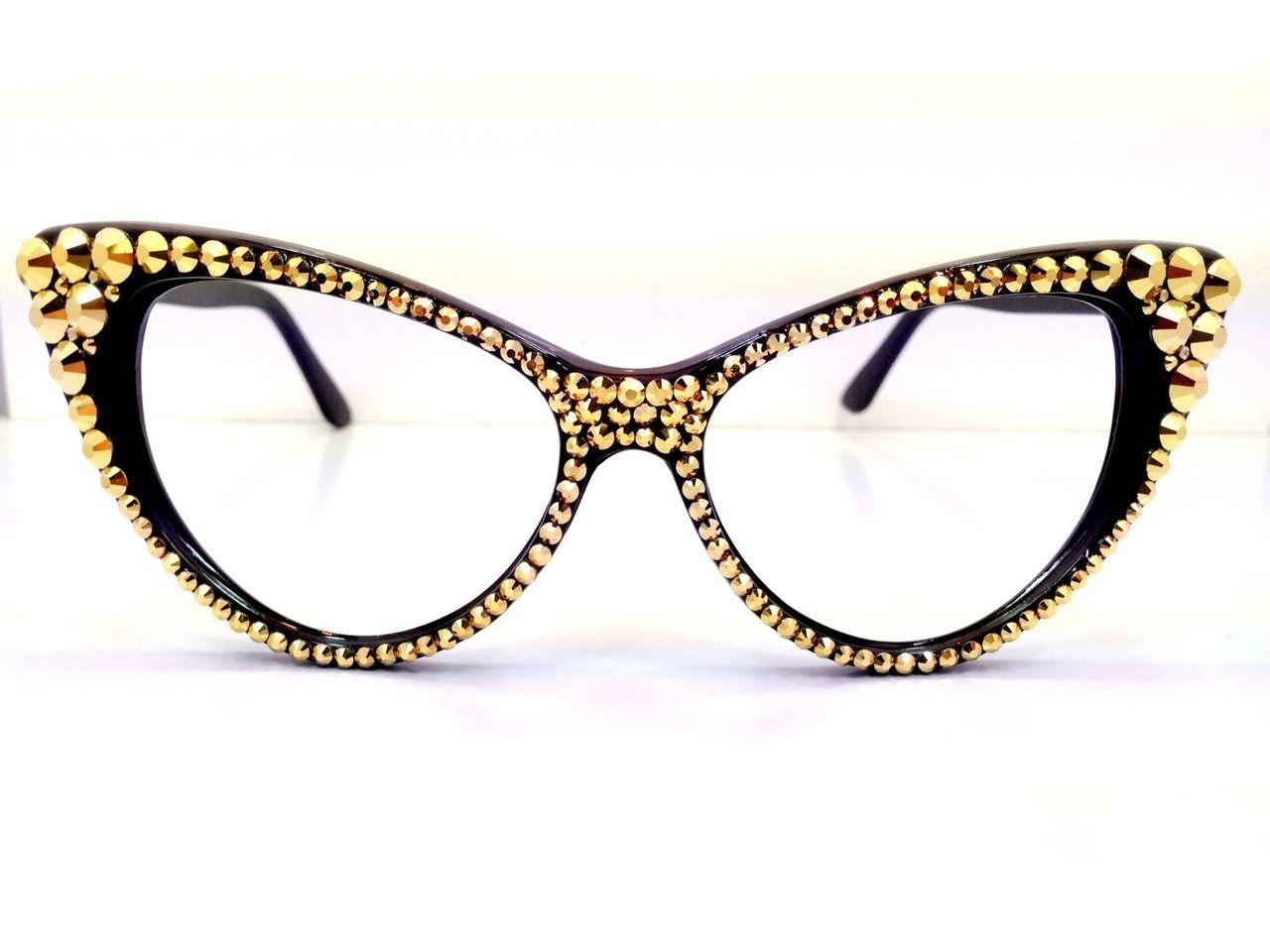 a2e44e1dfdcab Optical Crystal Cateye Reading Glasses - Divalicious Jewelry