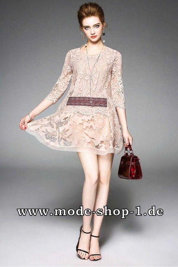 Sexy Cocktailkleid aus Spitze Sommerkleid in Beige | Damenmode 2017 ...