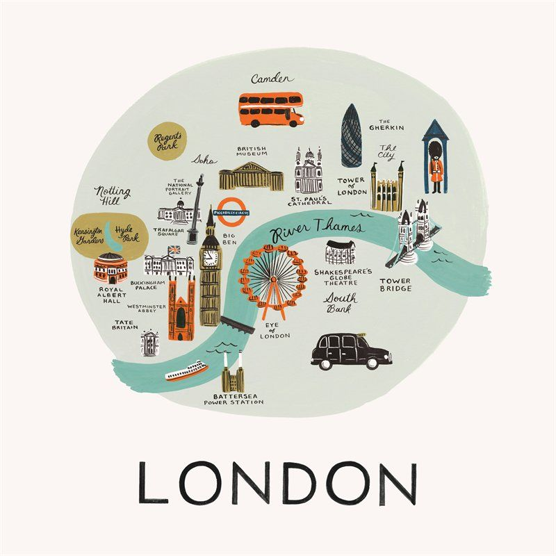 london map print by rifle paper co printswall art gifts chapters