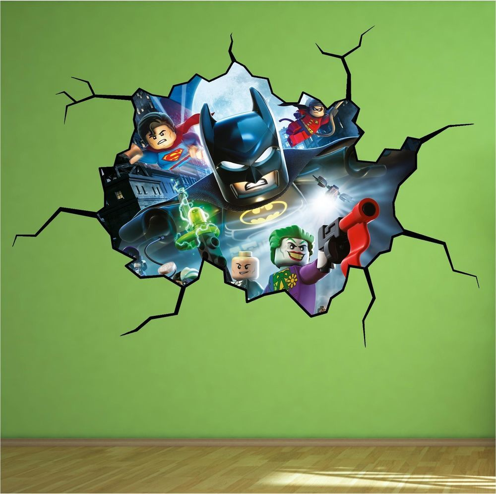 lego batman vinyl wall mural decal sticker star wars 3m lego batman cracked wall full colour print wall art sticker decal mural boys in home furniture diy home decor wall decals stickers